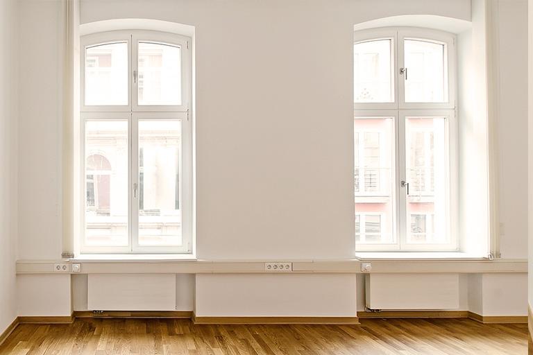 Bürofenster Vorher